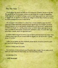Carta de Will a Tessa