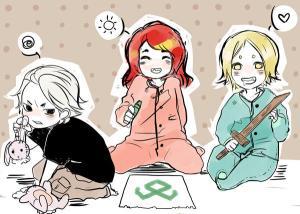 Clary Jace y Sebastian de niños