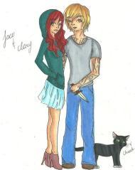 Clary y Jace e Iglesia