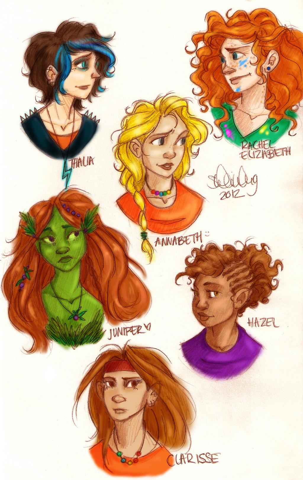 las chicas; Annabeth, ...