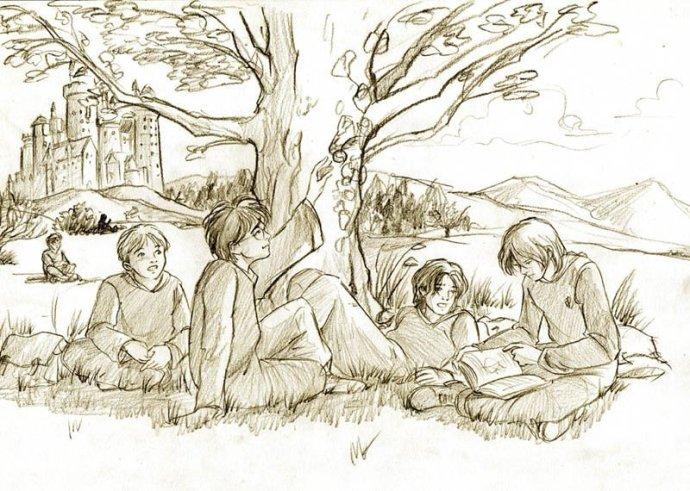 estudiando al aire libre