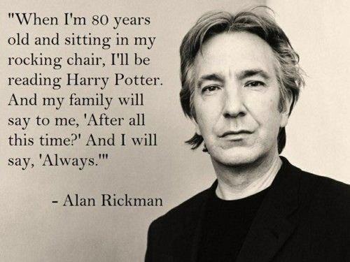 Poster Harry Potter Severus Snape Always Alan Rickman JK Rowling