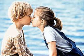 beso niños